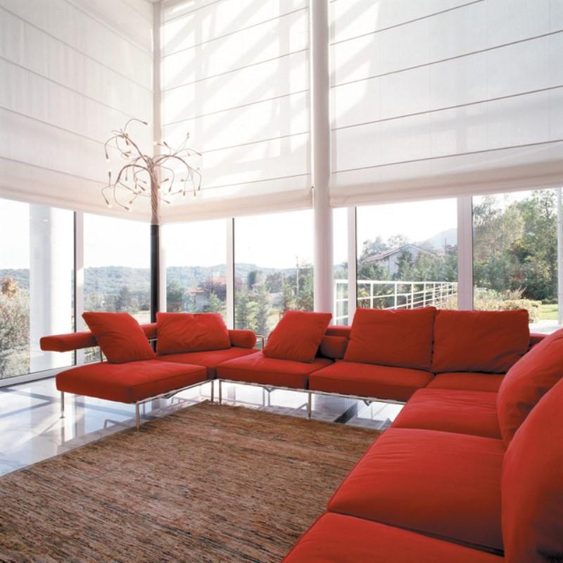 sofas y techo combinads con las persianas y estores